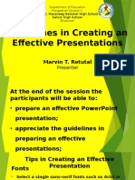 Guidelines in Creating an Effective Presentations