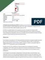 Partido Comunista Mexicano - Wikipedia, La Enciclopedia Libre