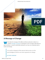 A Message of Change - Bay Area Christian Church