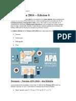 Actualizaciones APA 6° edicición