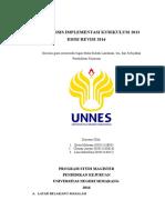 Analisis Implementasi Kurikulum 2013 Edisi Revisi 2016(1)