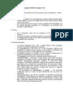 Notes on Katarungang Pambarangay Law