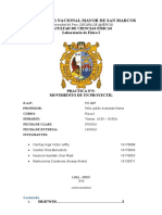 INFORME N°5 LABORATORIO DE FÍSICA- MOVIMIENTO DE UN PROYECTIL- UNMSM