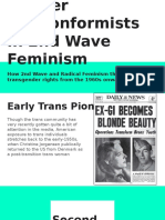 Gender Nonconformists in Second Wave Feminism