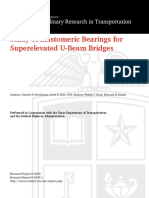 Study of Elastomeric Bearings for Superelevated U-beam Bridges (Research Report)