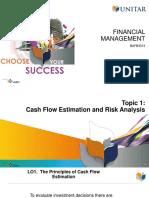 Topic 1 Cash Flow Estimation