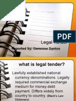 Legal Tender Report