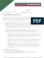 Tts Preventing Occupational Illness 2014