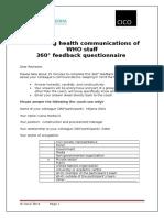Participant's 360 Questionnaire