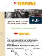 Optimize Your Success With Temperature Sensors