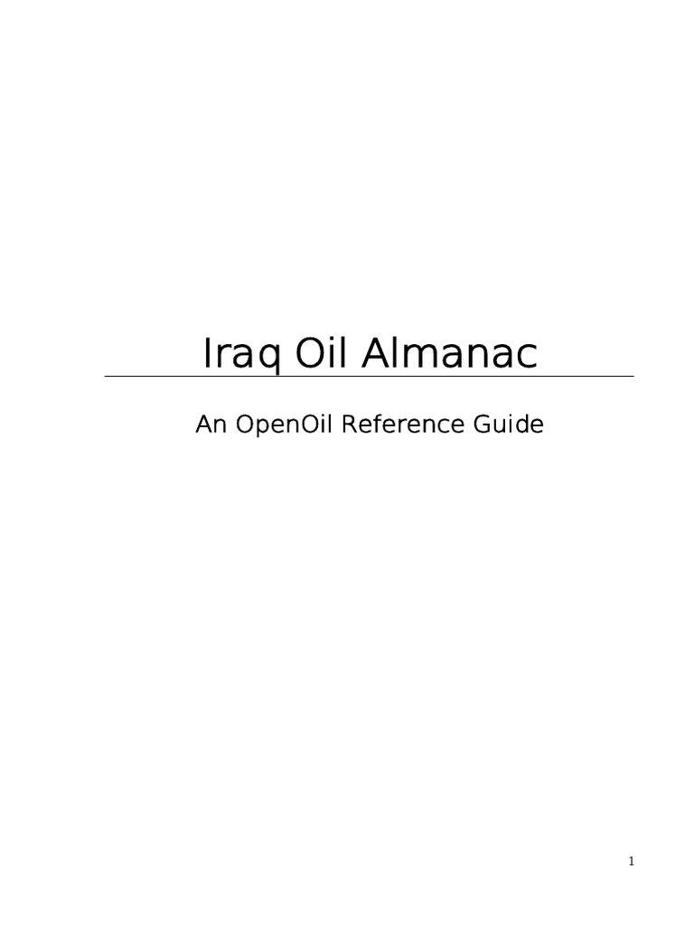 Iraq oil almanac pe oo version pdfpdf iraq petroleum biocorpaavc Images