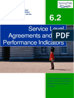 6.2 Service Level Agreements and Key Performance Indicators
