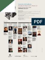 Conciertos Del Auditorio y Jornadas de Piano Luis G. Iberni 2016-2017