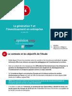 Actionaria - La Génération Y Et Linvestissement en Entreprise