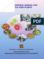 Quality Control Manual for Cattle Feed Plants