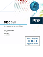 Disc Self Sample Report