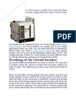Air Circuit Breaker is a Device Used to Provide Over