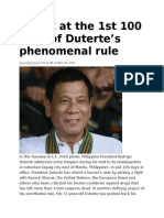 A Look at the 1st 100 Days of Duterte