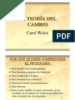 Teoria Del Cambio Carol Weiss