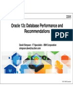 SIG Wed 1345 Oracle 12c Database Performance and Recomendations