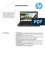 HP Zbook 17 G3 Mobile Workstation Datasheet