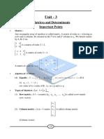 Matrices & Determinants