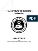 SBP Assisstant Director System Hosting OG-II Sample Paper