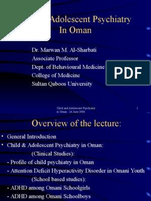 Child Psychiatry Oman | Child And Adolescent Psychiatry