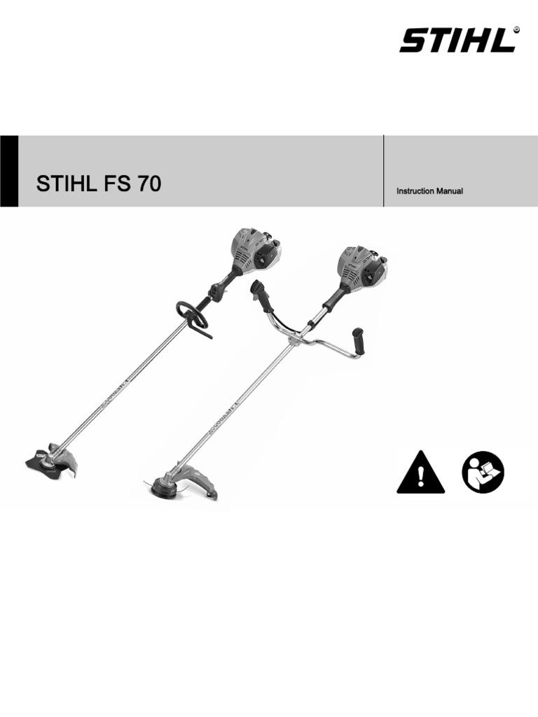 Stihl Fs 70 Strimmer Instruction Manual Gasoline Mower Engine Diagram