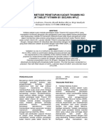 Validasi Metode Penetapan Kadar Thiamin Hcl Dalam Tablet Vitamin b1 Secara Hplc