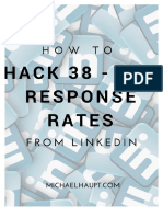 How to Hack 38 – 73% Response Rates from LinkedIn