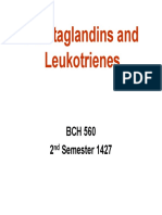 Prostaglandins and Leukotrienes