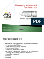 Developing a Dashboard for Sakai CLE