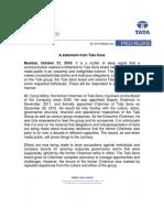 Tata Sons Press Release