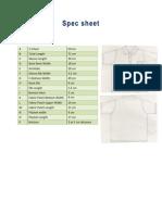 Polo Shirt Spec Sheet