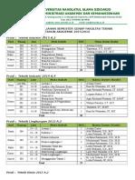 Jadwal Semester Genap 2015-2016