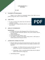 Case Analysis No. 1 (Mr. Padua)