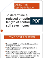 Time Cost Optimisation