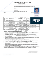 Student Admit Card