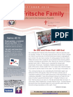 Fritsche Family Mission Newsletter - October 2016