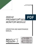 3500 42 Proximitor Seismic Monitor Module Op Maintenance Man