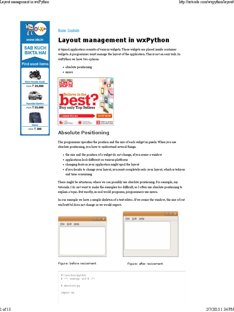 4 Layout Management in WxPython   Widget (Gui)   System