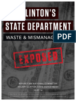 Clinton's State Department Waste and Mismanagement