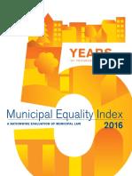 Municipal Equality Index 2016