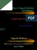 Why Taguchi Method Tip 8