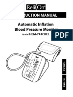 Blood Pressure Monitor - ReliOn HEM-741CREL