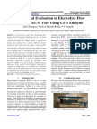 Experimental Evaluation of Electrolyte Flow Pattern in ECM Tool Using CFD Analysis