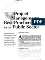 Project Management Best Practice in the Public Sector