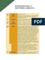 Cronologia de La Controversia Arriana Desconocido