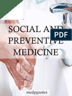 Social and Preventive Medicine Sample